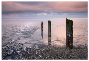 Keith Truman_Three Posts at Sunset
