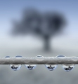Peter North, Raindrops on the Washing Line. Highly Commended LPOTY 2018